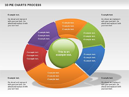 Donut Pie Chart, Slide 6, 01147, Pie Charts — PoweredTemplate.com