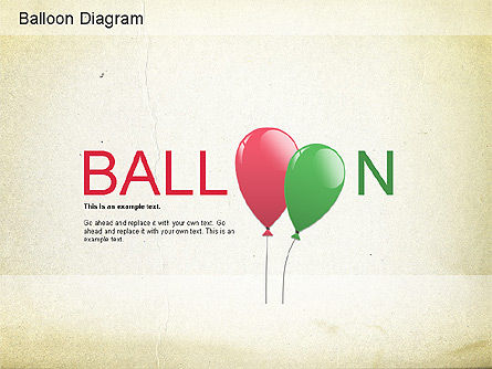 Balloon Diagram , 01152, Shapes — PoweredTemplate.com