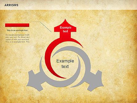 Process Arrows Shapes, Slide 3, 01154, Shapes — PoweredTemplate.com