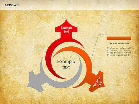 Process Arrows Shapes, Slide 4, 01154, Shapes — PoweredTemplate.com