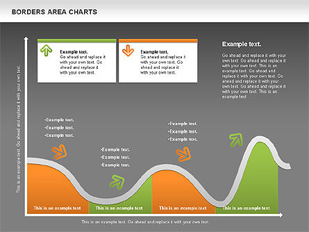 Line Area Chart, Slide 12, 01155, Business Models — PoweredTemplate.com