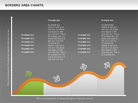 Line Area Chart, Slide 14, 01155, Business Models — PoweredTemplate.com