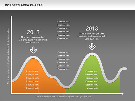 Line Area Chart, Slide 16, 01155, Business Models — PoweredTemplate.com