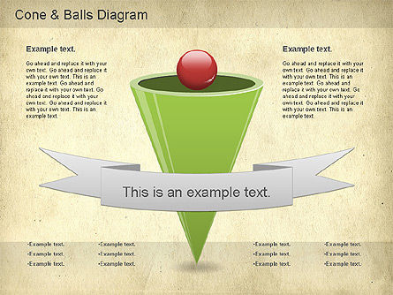 Cone and Balls Diagram, 01156, Business Models — PoweredTemplate.com