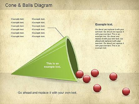 Cone and Balls Diagram, Slide 2, 01156, Business Models — PoweredTemplate.com