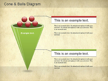 Cone and Balls Diagram, Slide 3, 01156, Business Models — PoweredTemplate.com