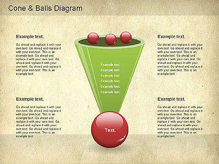 Cone and Balls Diagram, Slide 4, 01156, Business Models — PoweredTemplate.com