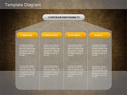 Corporate Responsibility Diagram, Slide 2, 01157, Business Models — PoweredTemplate.com