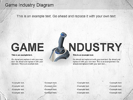 Game Industry Diagram, 01159, Business Models — PoweredTemplate.com