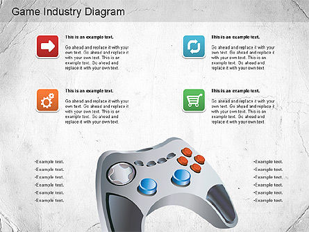 Game Industry Diagram, Slide 11, 01159, Business Models — PoweredTemplate.com