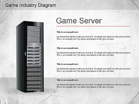 Game Industry Diagram, Slide 2, 01159, Business Models — PoweredTemplate.com