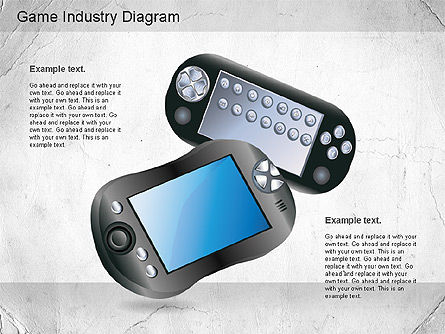 Game Industry Diagram, Slide 3, 01159, Business Models — PoweredTemplate.com