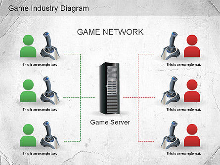 Game Industry Diagram, Slide 9, 01159, Business Models — PoweredTemplate.com