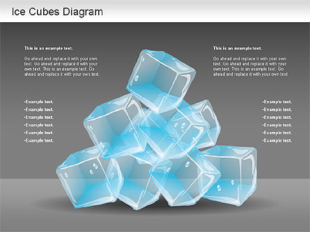 Ice Cubes Diagram, Slide 2, 01161, Business Models — PoweredTemplate.com