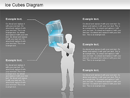 Ice Cubes Diagram, Slide 3, 01161, Business Models — PoweredTemplate.com