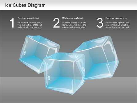 Ice Cubes Diagram Presentation Template For Google