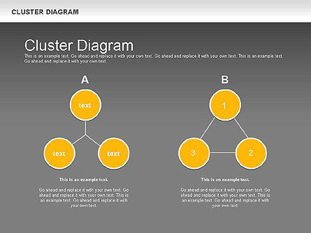 Clustering Diagram, Slide 14, 01162, Graph Charts — PoweredTemplate.com