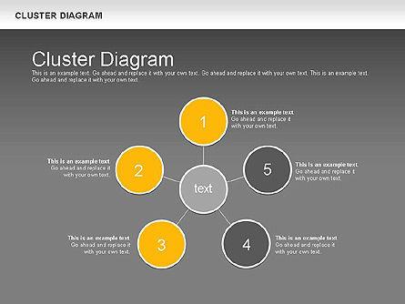 Clustering Diagram, Slide 15, 01162, Graph Charts — PoweredTemplate.com