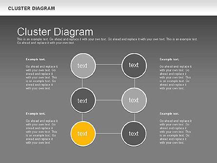 Clustering Diagram, Slide 16, 01162, Graph Charts — PoweredTemplate.com