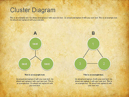 Clustering Diagram, Slide 3, 01162, Graph Charts — PoweredTemplate.com