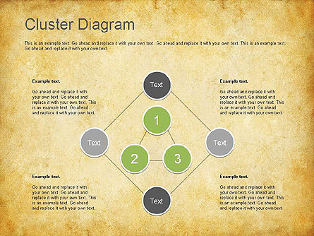 Clustering Diagram, Slide 6, 01162, Graph Charts — PoweredTemplate.com
