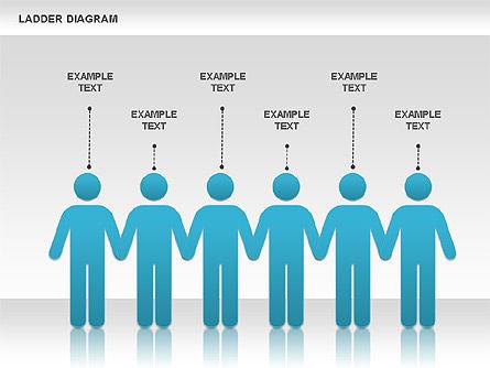 Ladder Diagram, Slide 2, 01166, Business Models — PoweredTemplate.com