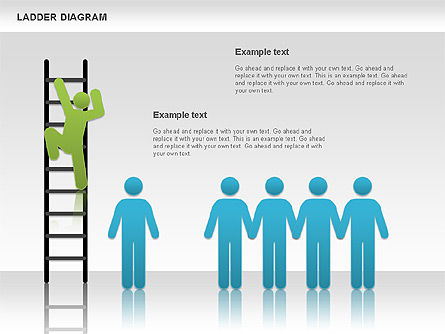 Ladder Diagram, Slide 3, 01166, Business Models — PoweredTemplate.com