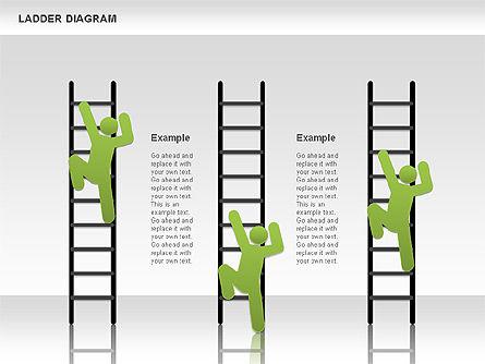 Ladder Diagram, Slide 4, 01166, Business Models — PoweredTemplate.com