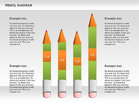 Pencil Diagram, Slide 3, 01167, Stage Diagrams — PoweredTemplate.com