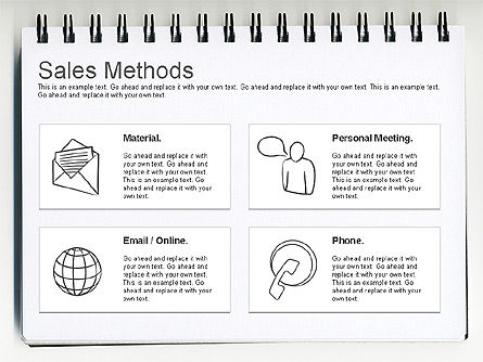 Sales Methods Diagram, 01169, Business Models — PoweredTemplate.com