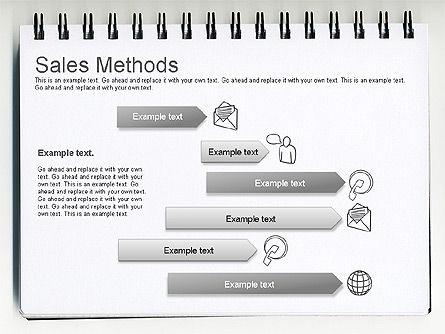 Sales Methods Diagram, Slide 10, 01169, Business Models — PoweredTemplate.com