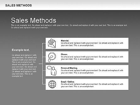 Sales Methods Diagram, Slide 13, 01169, Business Models — PoweredTemplate.com