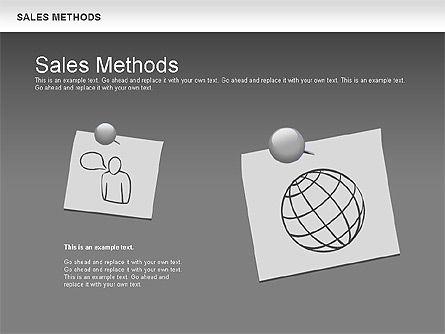 Sales Methods Diagram, Slide 14, 01169, Business Models — PoweredTemplate.com