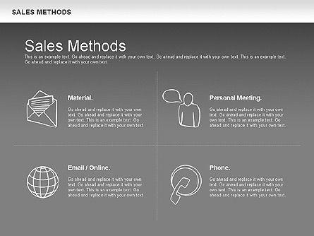 Sales Methods Diagram, Slide 15, 01169, Business Models — PoweredTemplate.com