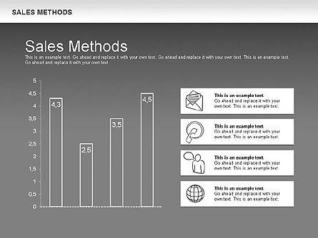 Sales Methods Diagram, Slide 16, 01169, Business Models — PoweredTemplate.com