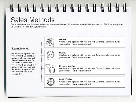 Sales Methods Diagram, Slide 2, 01169, Business Models — PoweredTemplate.com
