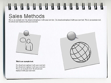 Sales Methods Diagram, Slide 3, 01169, Business Models — PoweredTemplate.com