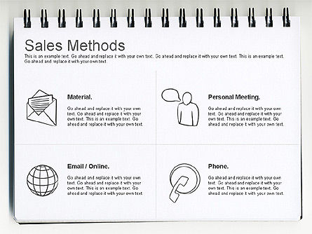 Sales Methods Diagram, Slide 4, 01169, Business Models — PoweredTemplate.com