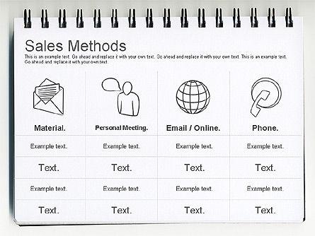 Sales Methods Diagram, Slide 5, 01169, Business Models — PoweredTemplate.com