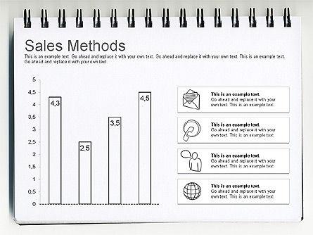 Sales Methods Diagram, Slide 6, 01169, Business Models — PoweredTemplate.com