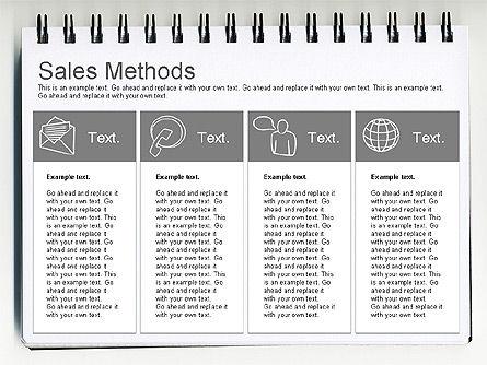 Sales Methods Diagram, Slide 7, 01169, Business Models — PoweredTemplate.com