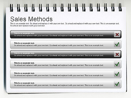 Sales Methods Diagram, Slide 8, 01169, Business Models — PoweredTemplate.com