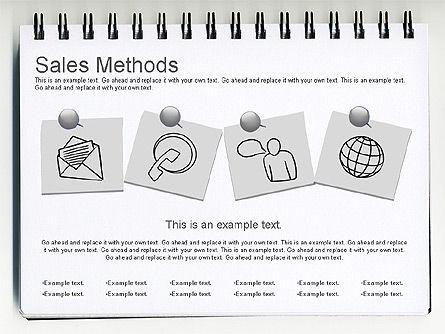 Sales Methods Diagram, Slide 9, 01169, Business Models — PoweredTemplate.com
