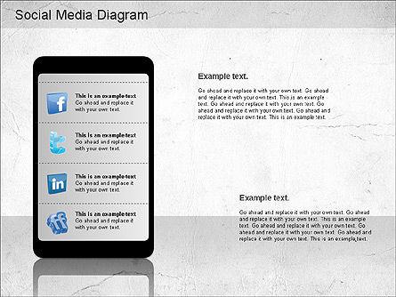 Social Media Analysis Diagram, Slide 10, 01170, Business Models — PoweredTemplate.com