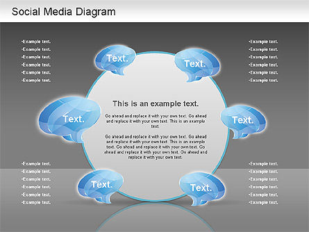 Social Media Analysis Diagram, Slide 15, 01170, Business Models — PoweredTemplate.com