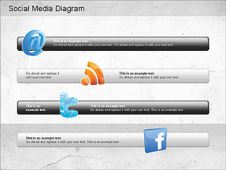 Social Media Analysis Diagram, Slide 7, 01170, Business Models — PoweredTemplate.com