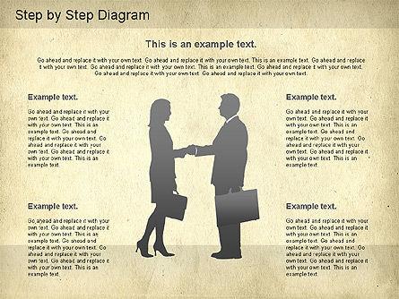 Step by Step Diagram, Slide 10, 01173, Stage Diagrams — PoweredTemplate.com