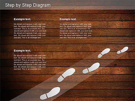 Step by Step Diagram, Slide 13, 01173, Stage Diagrams — PoweredTemplate.com