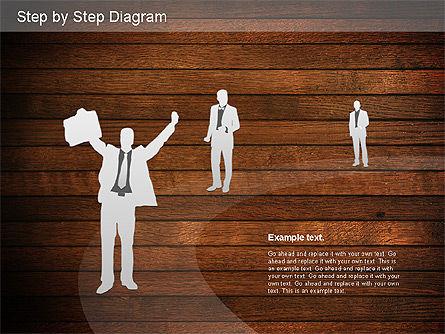 Step by Step Diagram, Slide 14, 01173, Stage Diagrams — PoweredTemplate.com