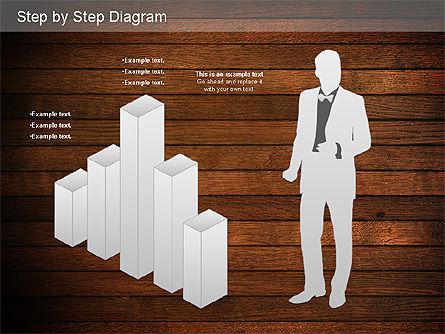 Step by Step Diagram, Slide 15, 01173, Stage Diagrams — PoweredTemplate.com